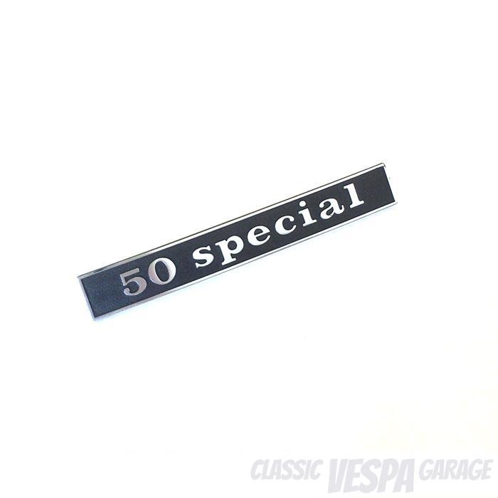 Schild Schriftzug 50 special Vespa