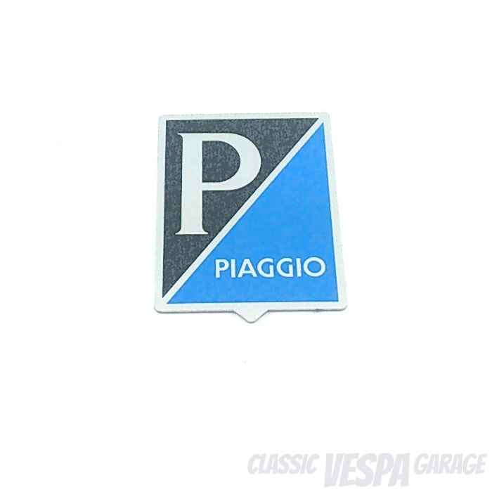 Emblem Kaskade Piaggio rechteckig Vespa V50 1.Serie