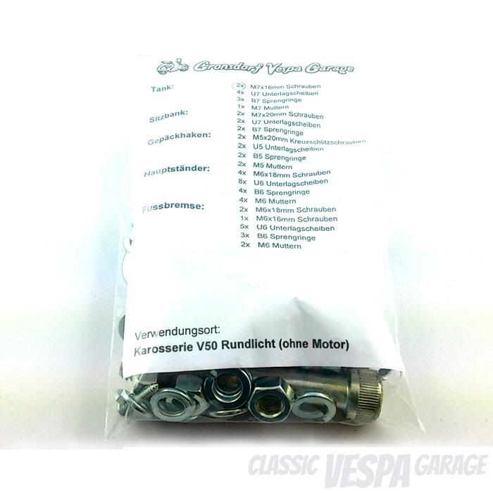 Schrauben-Kit Sortiment Vespa V50 Karosserie