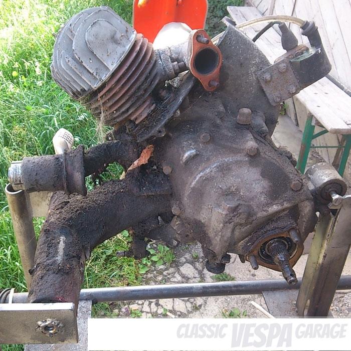 Motor reinigen Vespa