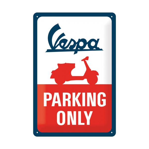 Vespa Parking Only Blechschild Accessories Merchandise