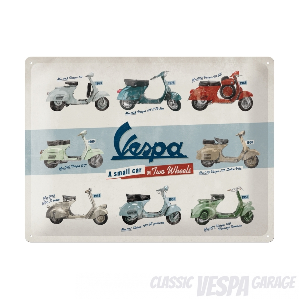 Vespa Modelle Typen Blechschild Accessories Merchandise