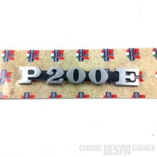 Schriftzug Vespa P200E Seitenbacke Haube Vespa PX